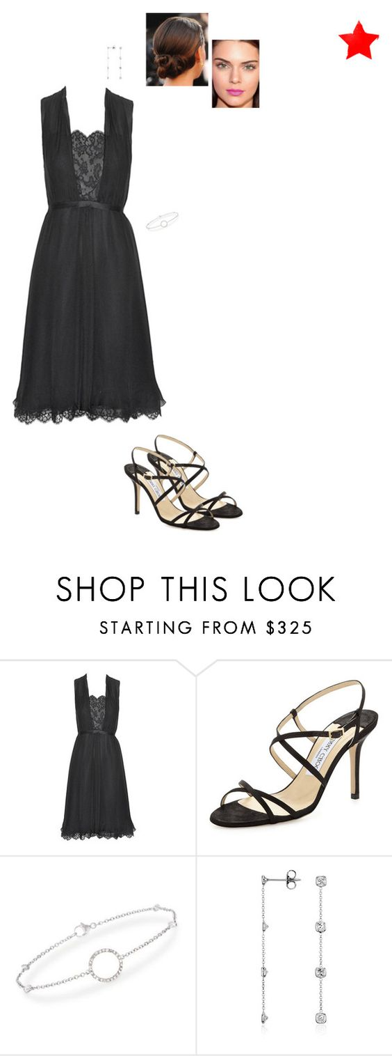 """Sem título #5516"" by gracebeckett on Polyvore featuring moda, Chanel, Jimmy Choo, Ross-Simons e Blue Nile"