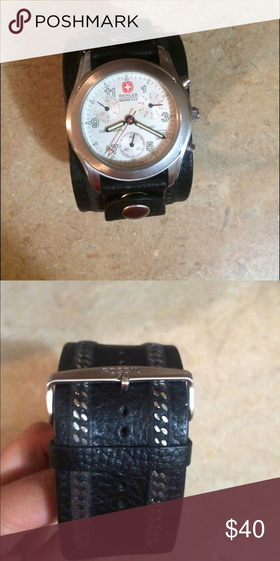 Fossil Leather Watch In good condition, has been worn a few times, but don't need it anymore. If you have any questions that are not in the description feel free to ask Fossil Accessories Watches