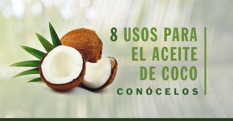 8 Usos para el Aceite de Coco El aceite de coco es de esas cosas que tienen tantos usos, que tener uno en casa debe ser una regla para todos. En Carson Life ten