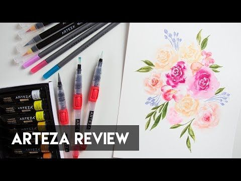 In Today S Video I Am Reviewing Arteza S Real Brush Pens Water