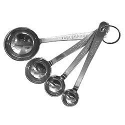 """Libertyware Standard Duty Stainless Steel Measuring Spoon Set (13-0790) Category: Measuring Spoons by Libertyware. $9.04. Sold Individually. Item #: 13-0790. 4 15/16""""L. 1 15/16""""W Customers also search for: Restaurant Supplies\Kitchen Supplies\Thermometers, Scales and Measures\Measuring Spoons restaurant equipment, kitchen supplies Discount Standard Duty Stainless Steel Measuring Spoon Set, Buy Standard Duty Stainless Steel Measuring Spoon Set, Wholesale Standard Duty Stainless S..."""
