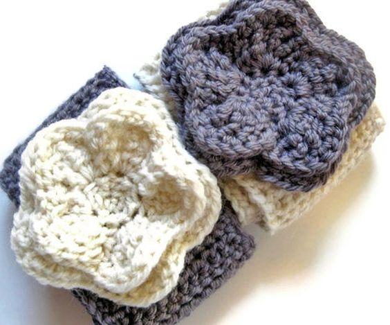 Adult Headband Woman Handmade Crochet by HeatherLeighDesigns