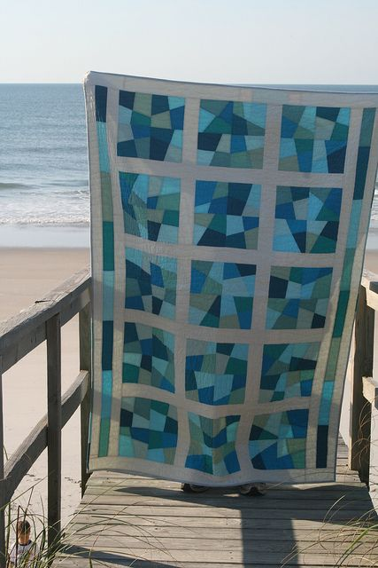 sea glass quilt by Hi.C., via Flickr