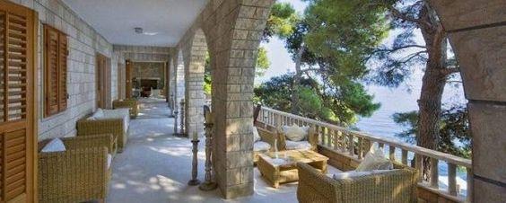 Plenty of outdoor space at Dvor Na Moru Villa on the Dalmatian Coast.