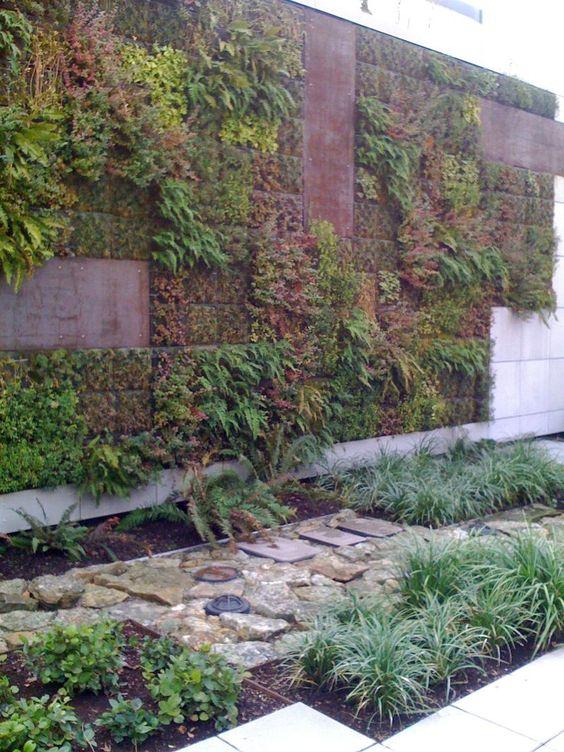 Vertical garden design Vertical gardens and Geometric