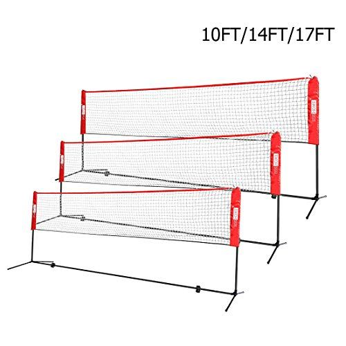 Vivohome Portable 14ft Height Adjustable Outdoor Badminton Net Set With Stand And Carry Bag For Volleyball Soccer Tennis Badminton Nets Soccer Tennis Badminton