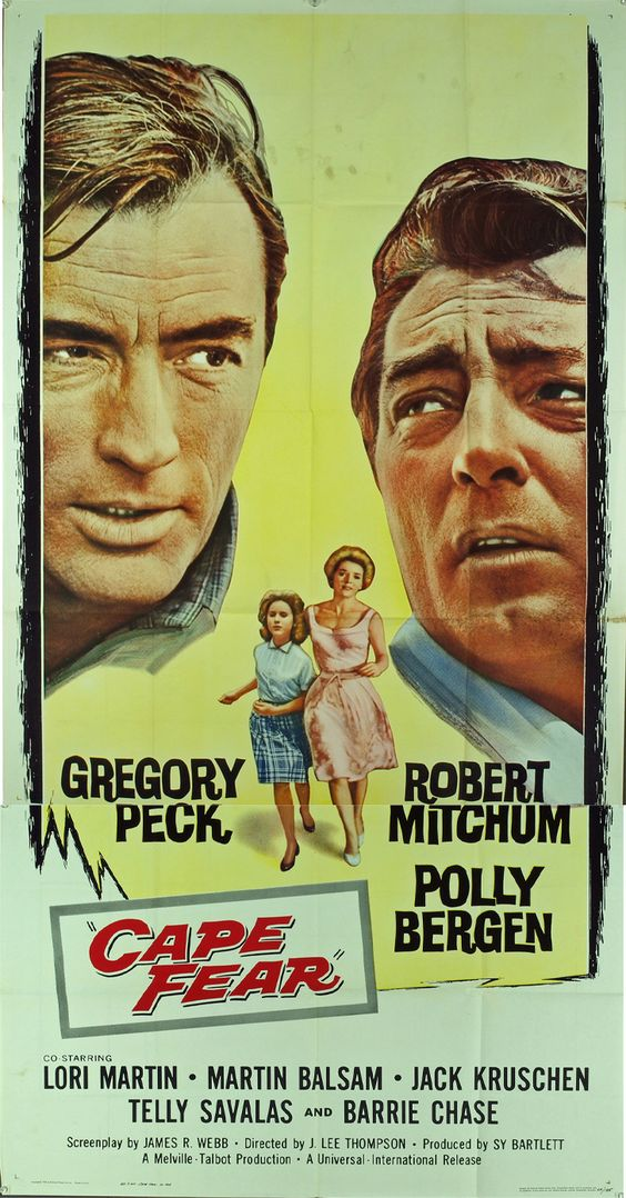 Cape Fear (1962) A lawyer's family is stalked by a man he once helped put in jail. Trailer https://www.youtube.com/watch?v=lej6ZDMieD4
