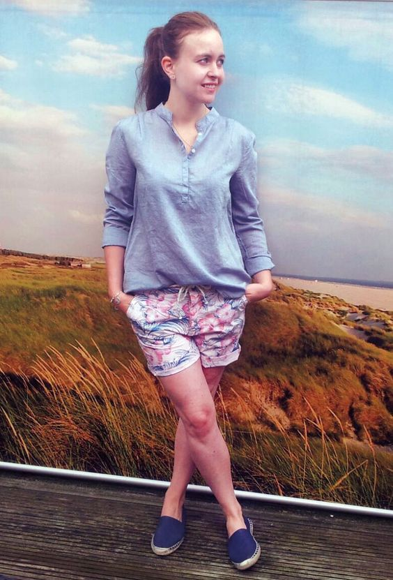 Outfit der Woche! Shorts: Pepe Jeans - Bluse: Hilfiger Denim #ootw #fashion