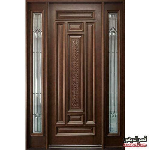 ابواب منازل اشكال ابواب خشب داخلية وخارجية للشقق قصر الديكور Door Design Entry Door Designs Door Design Wood
