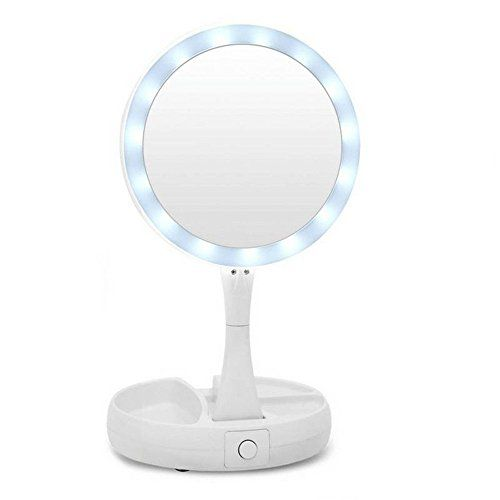 Unbrand Vanity Mirror Led Lighted Stand Foldable Makeup Mirror 1x