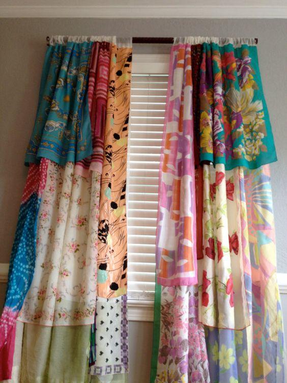 Gypsy Boho Curtain Panels Window Treatment Bohemian by ohMYcharley ...