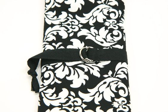 SHORT Knitting Needle Organizer Case  Black by lenabrowndesigns, $24.95