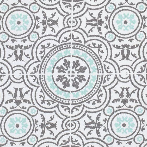 Tissu serg azulejos gris palace tissus maison mondial tissus idees cou - Www mondialtissus com ...
