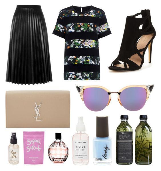 """Sophisticat"" by igmacaulay on Polyvore featuring Aviù, Yves Saint Laurent, Markus Lupfer, Fendi, AMBRE, Olivine and Jimmy Choo"