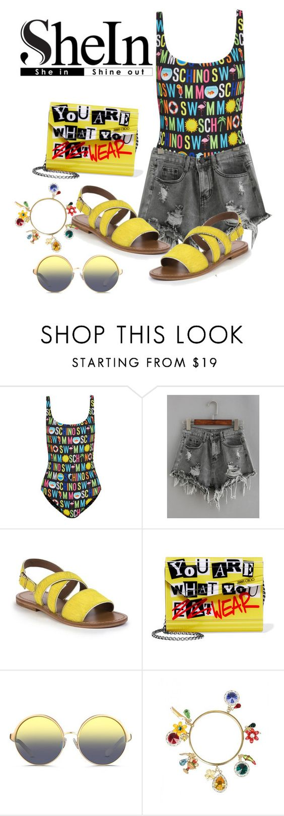 """""""what a beauty☺"""" by ashantay87 ❤ liked on Polyvore featuring Moschino, Marni, Jimmy Choo, Matthew Williamson and Dolce&Gabbana"""