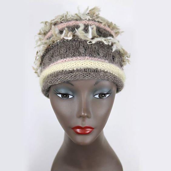 ARTSY, Hippy Yarn, HANDMADE KNIT HAT by Toni Jannelli 100% Wool - HAT6005 #Handmade #Ski #Casual