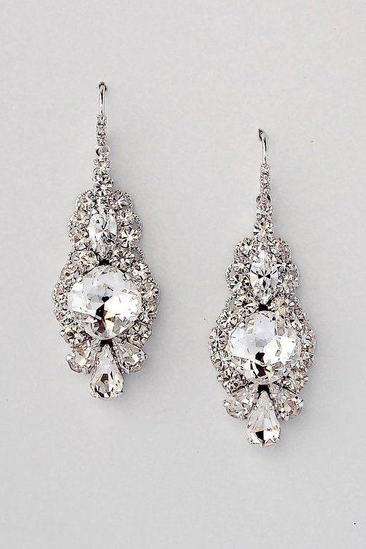 Art Deco Wedding Earrings Serena Dupelle Bridal Earrings Drop Bridal Accessories Earrings Bridesmaid Jewelry Sets