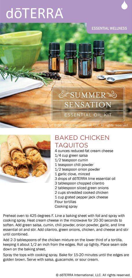 dōTERRA Baked Chicken Taquitos