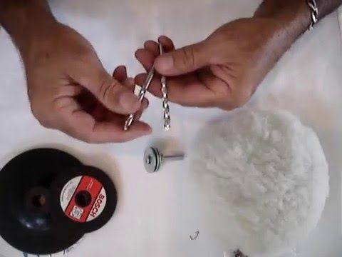 Unboxing kit para furadeira , lixa faz polimento e rebolo de amolar facas