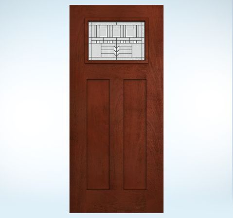 Design pro fiberglass glass panel exterior door jeld wen for Jeld wen exterior doors
