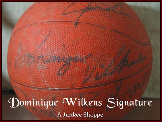 AUTOGRAPHED Basketball Star Signed Through The Decades Not Authenticated Dominique Wilkens 952  http://ajunkeeshoppe.blogspot.com/