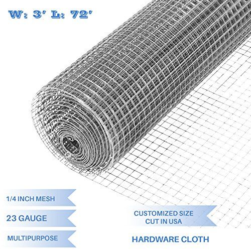Discounted E K Sunrise 36 X 72 Hardware Cloth 1 4 Inch 23 Gauge Wire Mesh Galvanized For Garden Plant Rabbit Chicke Hardware Cloth Chain Link Fence Wire Mesh
