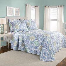 Vanessa Quilted Bedspread Set