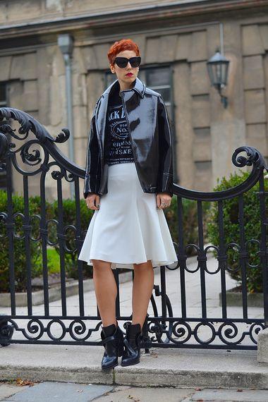 Neoprene flared skirt  | Women's Look | ASOS Fashion Finder