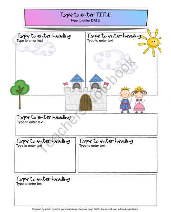 kings and queens newsletter template from edlah preschool resources on 1. Black Bedroom Furniture Sets. Home Design Ideas