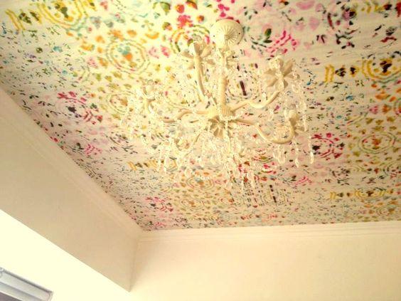 Tapiz en techo chandelier cuarto de ni a recamara - Papel para techos ...