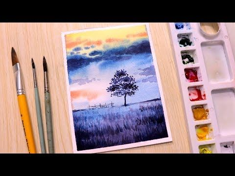 Painting Looks Like Wallpaper Simple Watercolor Painting