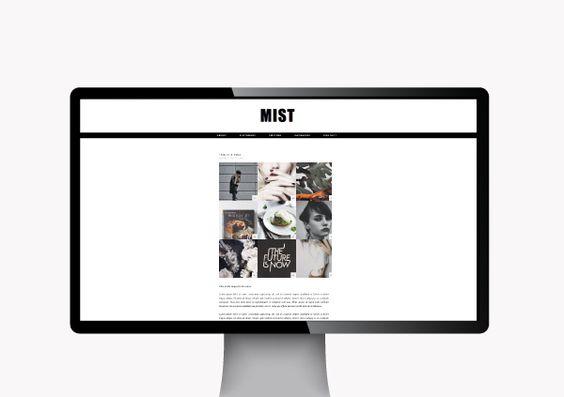 Blog Milk Shop — Blogger Themes: Mist Blogger Theme