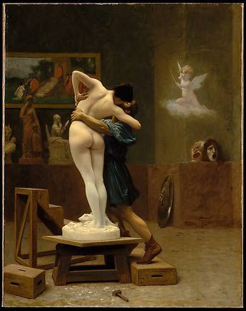 Las 10 imágenes de amor más románticas del arte: Gérôme - Pigmalión y Galatea