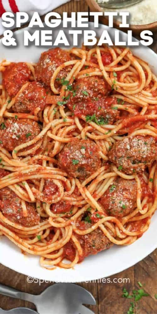 Classic Spaghetti and Meatballs is a family favorite meal that never goes out of style!