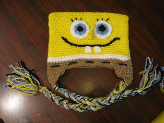 Free Crochet Pattern For Spongebob Hat : Your place to learn how to Make The Bob the Sponge Beanie ...