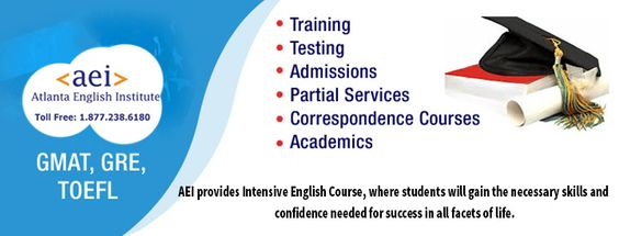 The Atlanta English Institute (AEI) provides Intensive English Course,where students will gain the necessary skills and confidence needed for success in all facets of life.More Details: http://www.atlei.com/