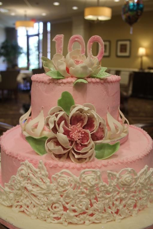 100th birthday cake via craftsy cake decorating for 100th birthday decoration ideas