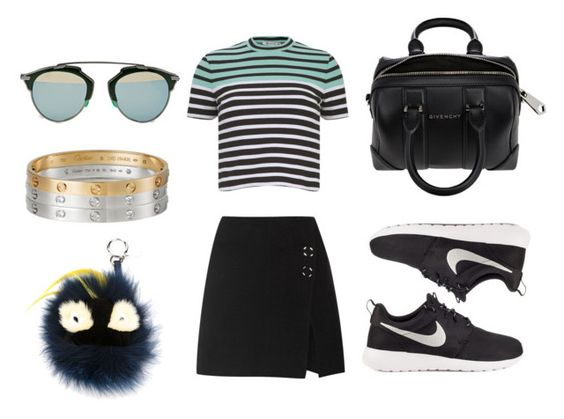 """""""Look:#171"""" by dollarwomanlux ❤ liked on Polyvore featuring Acne Studios, T By Alexander Wang, NIKE, Givenchy, Christian Dior, Cartier, Fendi, women's clothing, women and female"""