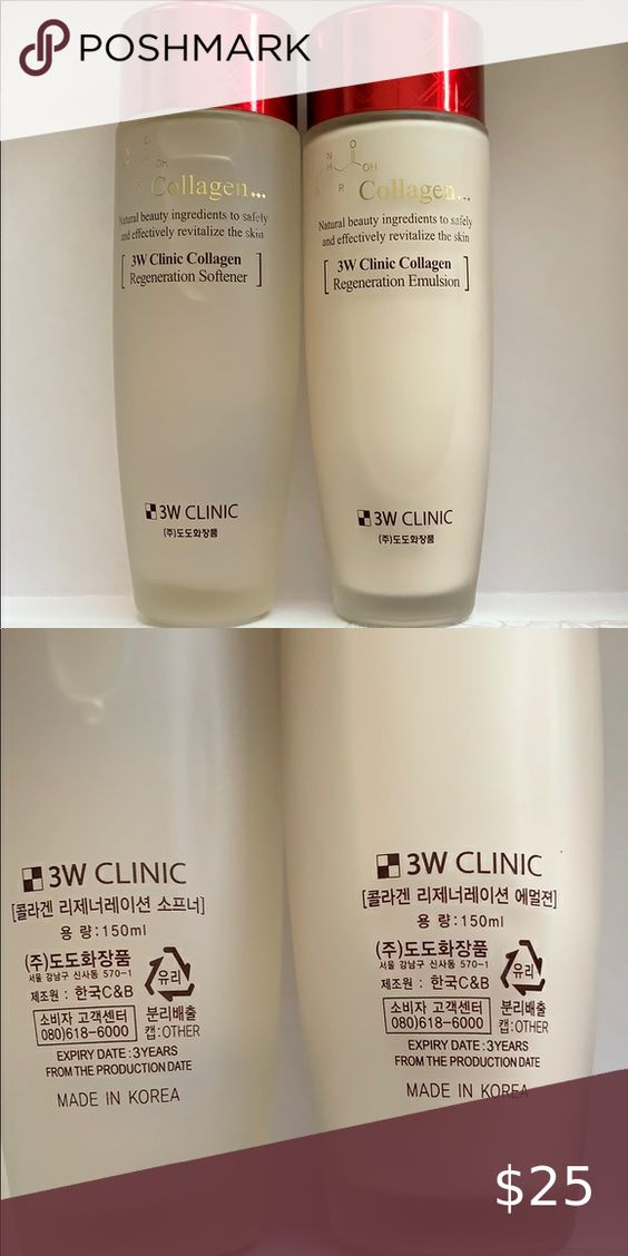 Nwob 3w Clinic Collagen 2 Pc Skincare Set In 2020 Skincare Set Collagen Skin Care