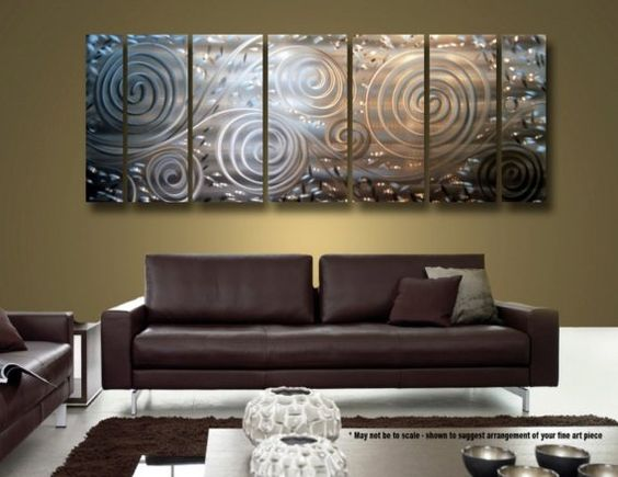 Contemporary Metal Wall Art silver contemporary metal wall sculpture - modern metal wall art