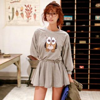 I'm not hip with the owl thing nowadays, but this dress is worth it -YesStyle <3