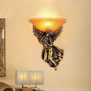 Anjo resina luz de parede l mpada led para ilumina o - Resina para paredes ...