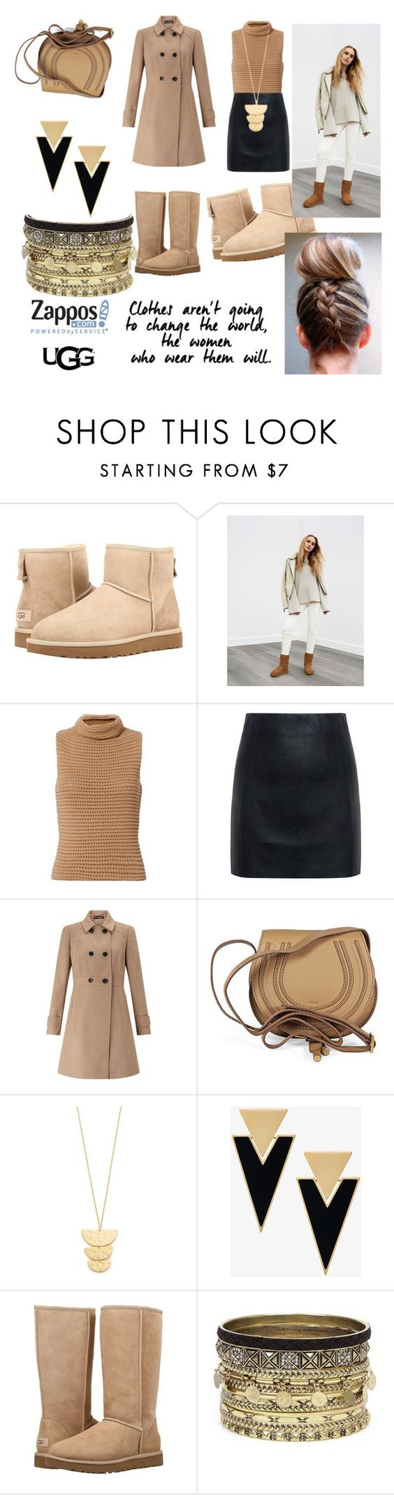 """The Icon Perfected: UGG Classic II Contest Entry"" by anniegaf ❤ liked on Polyvore featuring UGG Australia, UGG, Exclusive for Intermix, McQ by Alexander McQueen, Miss Selfridge, Chloé, Gorjana, Yves Saint Laurent, Daytrip and ugg"