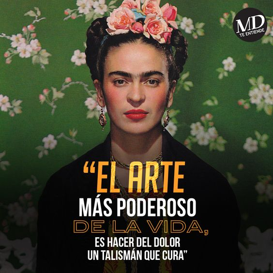 The most powerful art of life is to make pain, a healing talisman - Frida Kahlo…