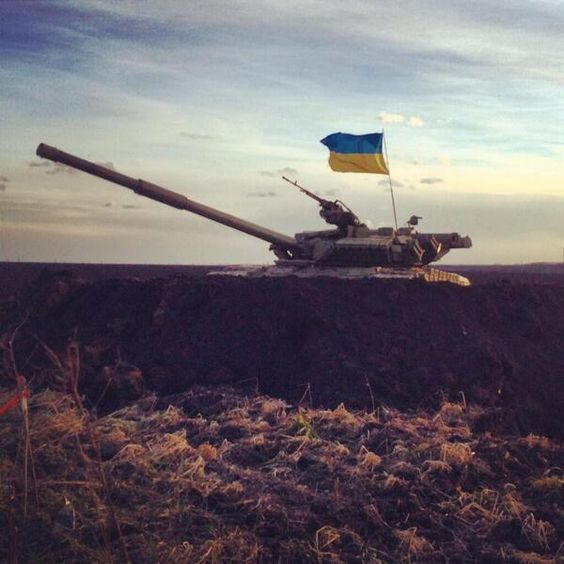 bruce springnote ‏@BSpringnote Ukrainian tank somewhere in the east