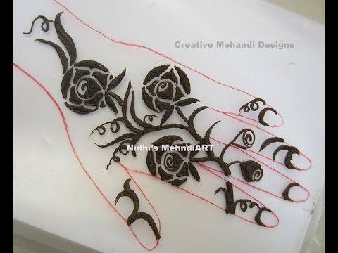 Flower Wali Mehndi : Gulf rose mehndi design with simple type domseksa