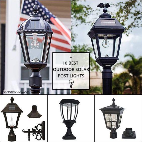 10 Best Outdoor Solar Post Lights Solar Post Lights Post Lights Outdoor Solar