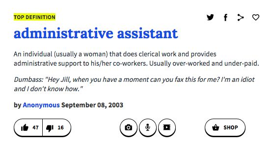 Administrative Assistant  Humor