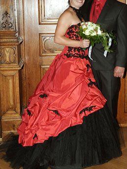 rot schwarz für die dritte hochzeit von conni hochzeitskleid rot ...