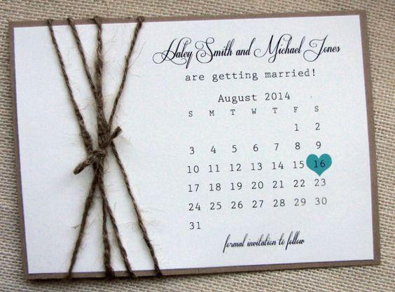 Save the Date, Card, Calendar,Rustic Burlap Twine Save the Date ...